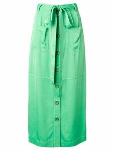 See By Chloé waist-tied midi skirt - Green