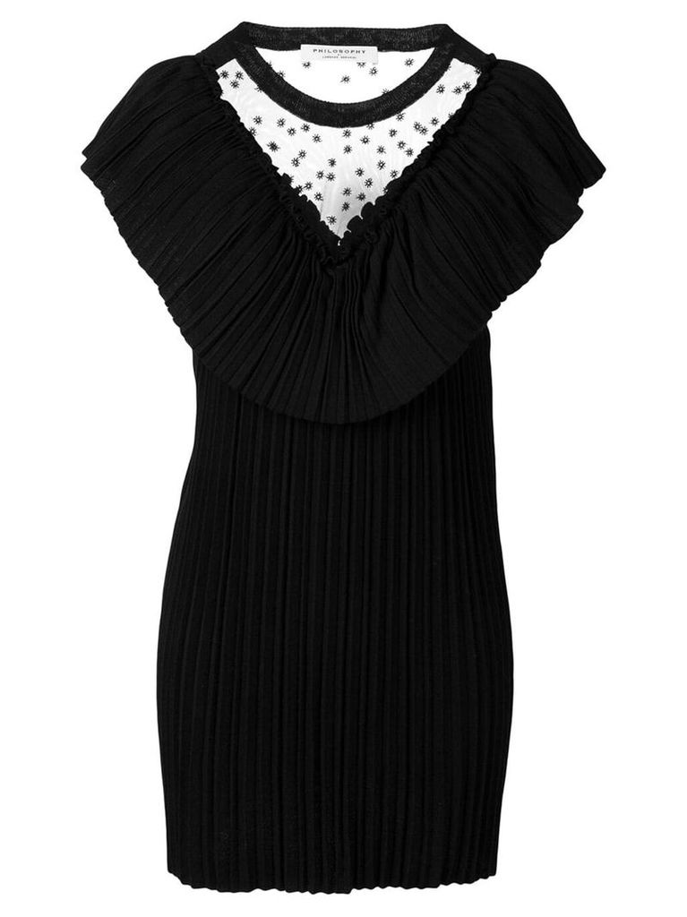 Philosophy Di Lorenzo Serafini pleated dress - Black