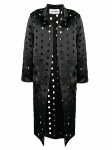 Caban Romantic cut polka dot coat - Black
