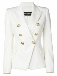 Balmain double-breasted blazer - White