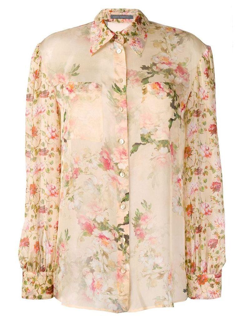 Alberta Ferretti floral print shirt - Neutrals