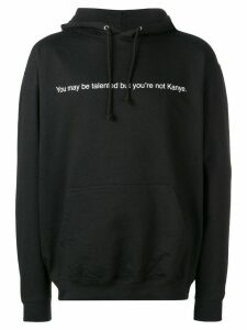 F.A.M.T. slogan print hooded sweatshirt - Black