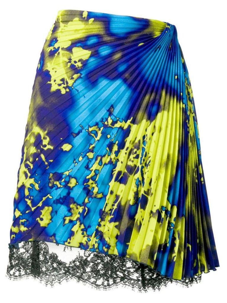 MSGM micro pleated skirt - Blue
