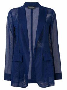 Sport Max Code sheer blazer jacket - Blue