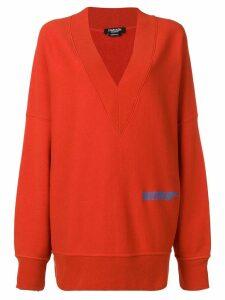 Calvin Klein 205W39nyc V-neck sweatshirt - Red