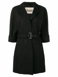 Herno belted coat - Black