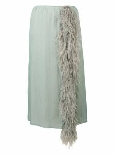 Prada feather tassel skirt - Blue