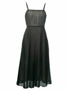 Fendi pleated mesh dress - Blue