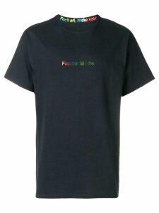 F.A.M.T. slogan print T-shirt - Black