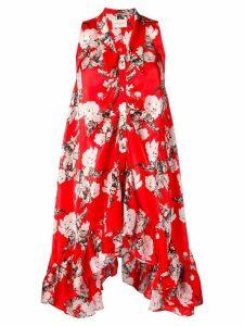 Giuseppe Di Morabito printed ruffled dress - Red