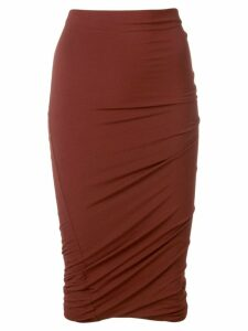 T By Alexander Wang twisted pencil skirt - Red