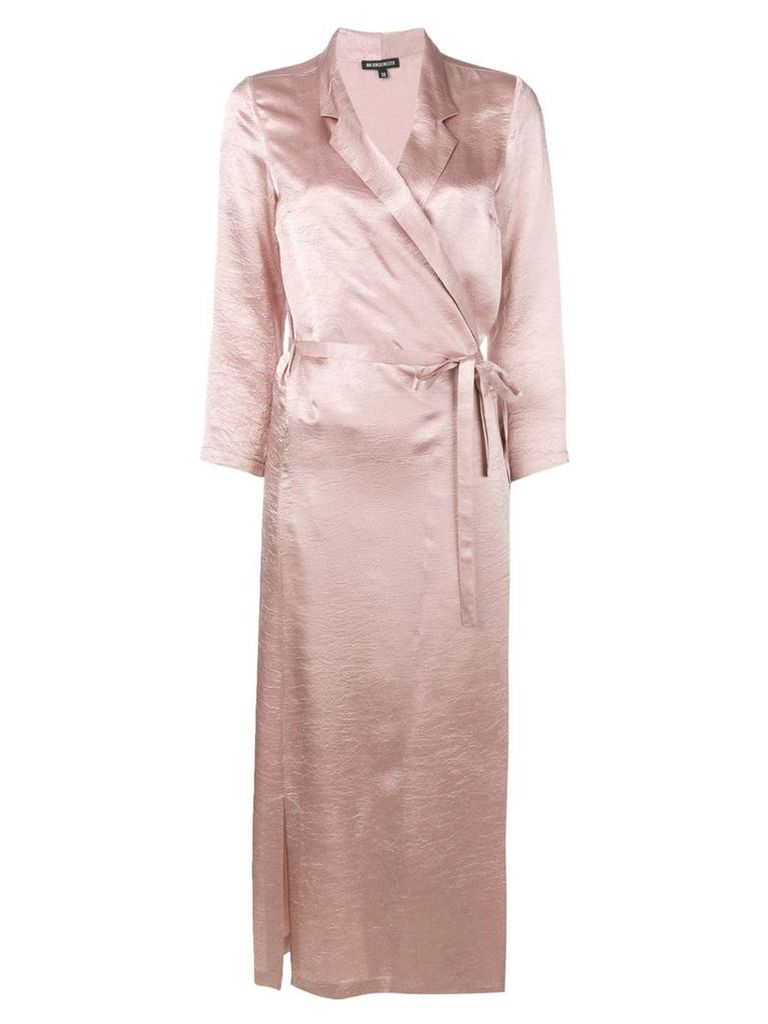 Ann Demeulemeester belted wrap dress - Pink