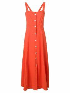 Pinko flared midi dress - Orange