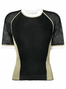 Fendi short sleeve silk jumper - Black