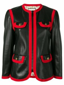 Gucci leather bon ton jacket - Black