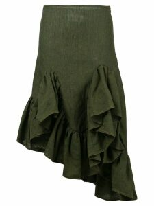 Marques'Almeida asymmetric ruffle skirt - Green