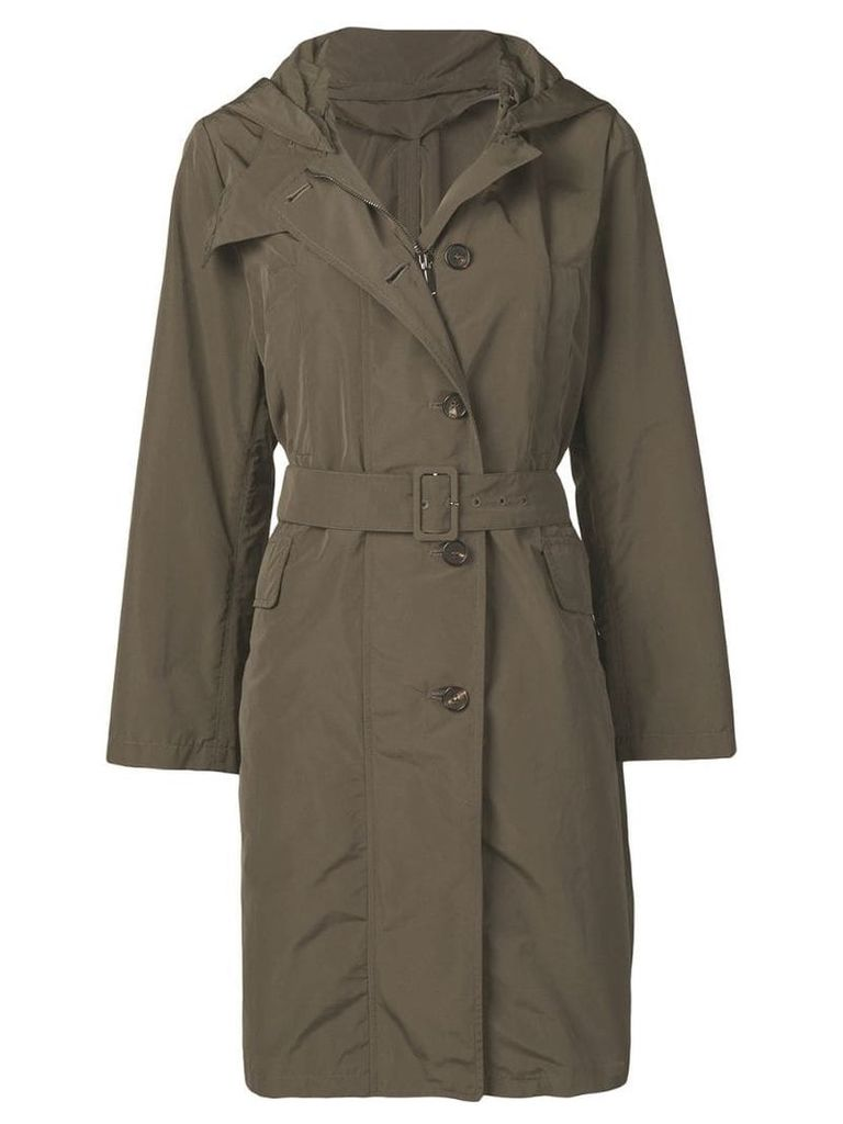 Max Mara belted trench coat - Green