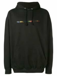 F.A.M.T. 'This story is no longer available' printed hoodie - Black
