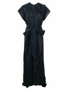 Nina Ricci floral detail belted dress - Blue