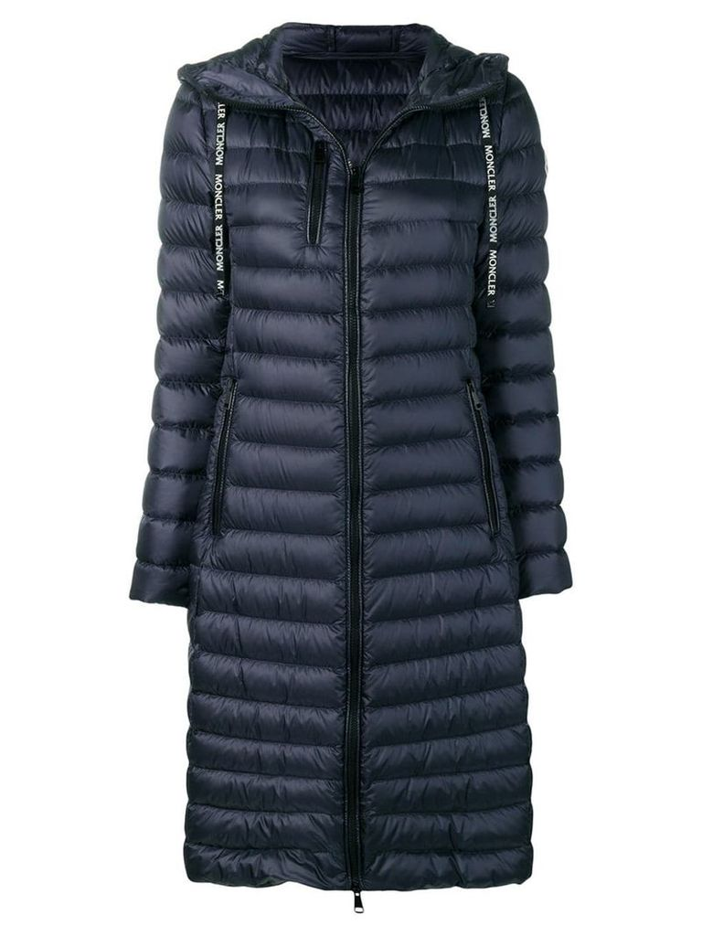 Moncler padded rain coat - Blue