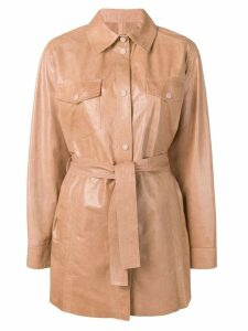 Drome classic leather coat - Neutrals