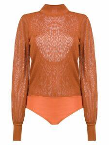 Nk knitted bodysuit - Orange