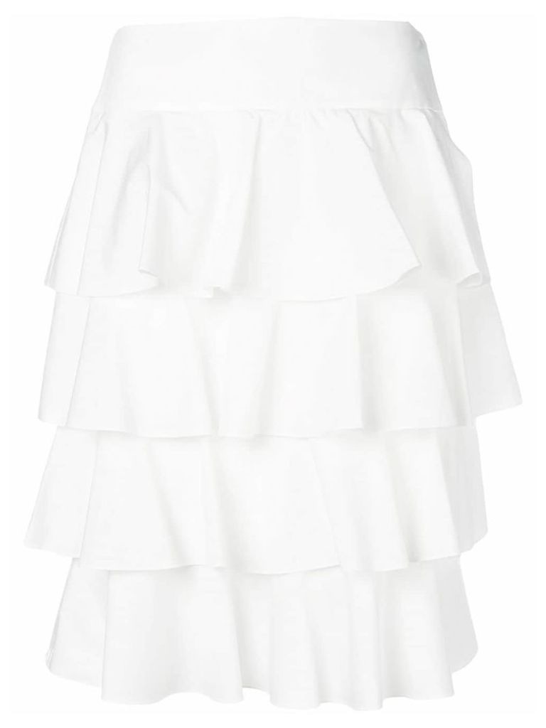Fendi tiered layered skirt - White