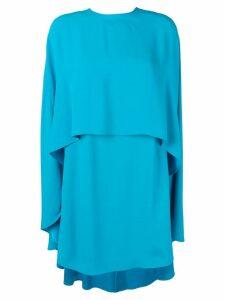Sara Battaglia cape dress - Blue