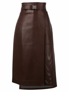 Fendi buckled waist wrap skirt - PURPLE