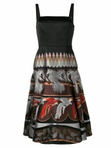 Fendi embroidered parrot dress - Black