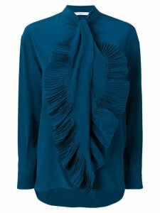 Givenchy pleated front bib shirt - Blue