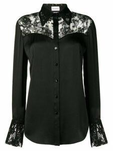 Magda Butrym lace panel shirt - Black