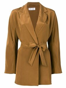 Max Mara tie waist blazer - Brown
