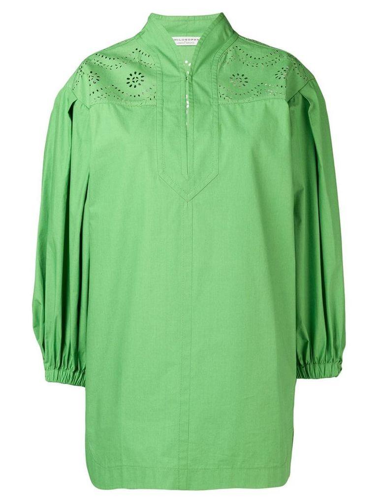 Philosophy Di Lorenzo Serafini perforated detail dress - Green