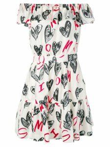 Moschino devoré hearts dress - White