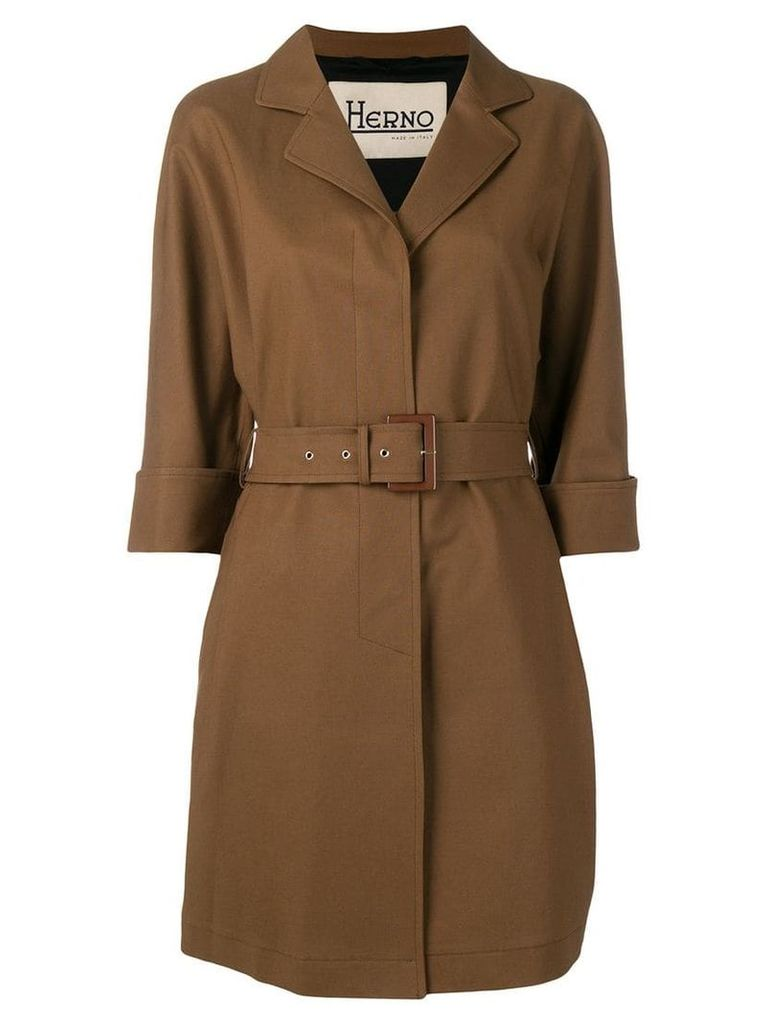 Herno belted short trench coat - Brown