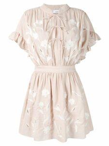 Iro ruffled mini dress - Neutrals