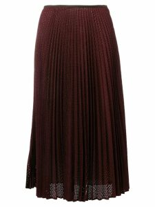 Fendi perforated pleated skirt - PURPLE