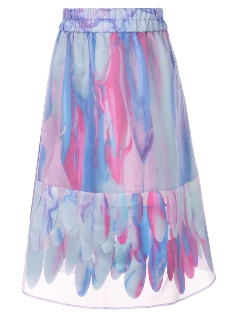 Paskal abstract-print A-line skirt - Multicolour