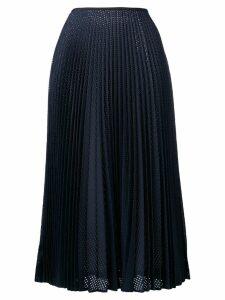 Fendi perforated pleated skirt - Blue