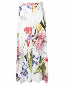 GANNI floral midi skirt - White