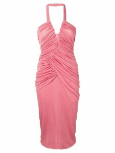 Tom Ford gathered front halterneck dress - Pink