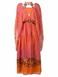 Fendi printed kaftan dress - Orange