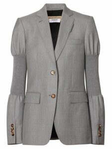 Burberry Panelled-sleeve Wool Tailored Jacket - Grey