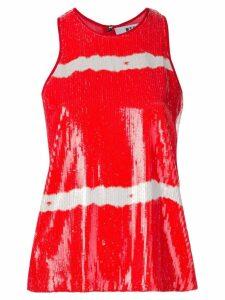 MSGM sequin vest top - Red