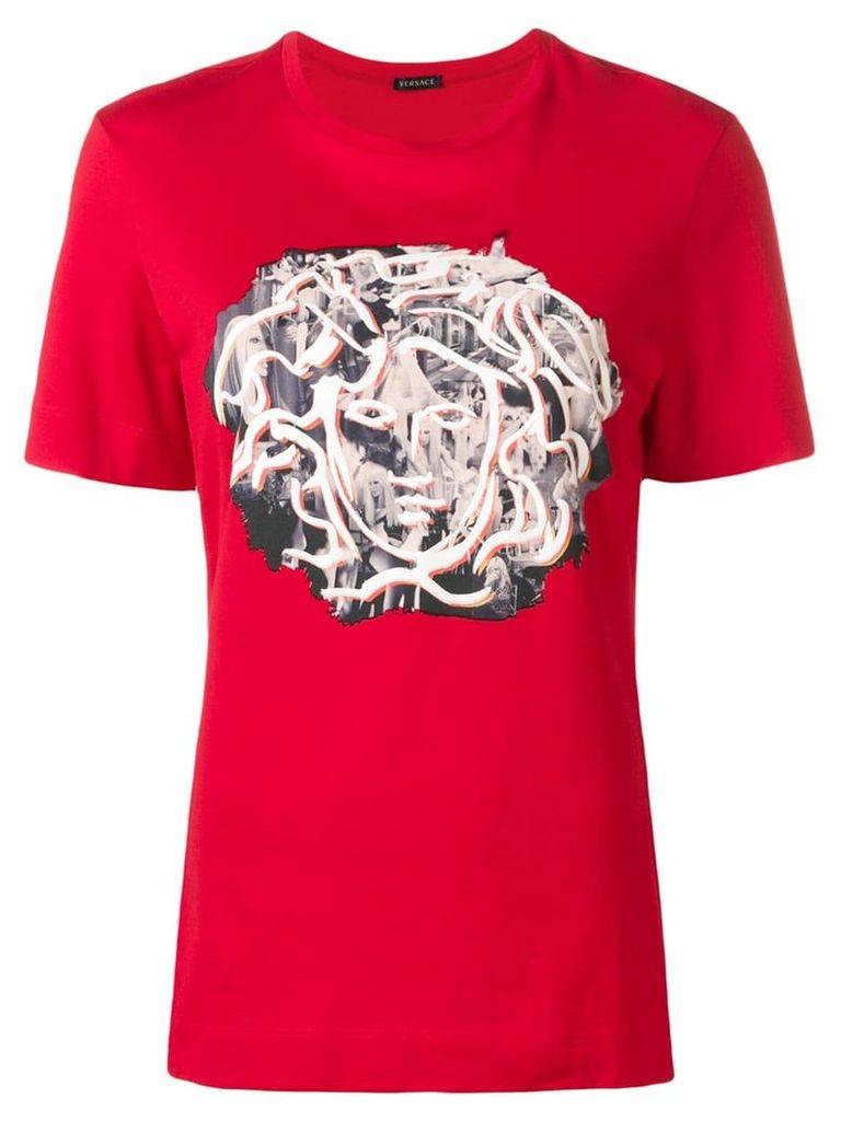 Versace Sustainable DV Medusa print T-shirt - Red