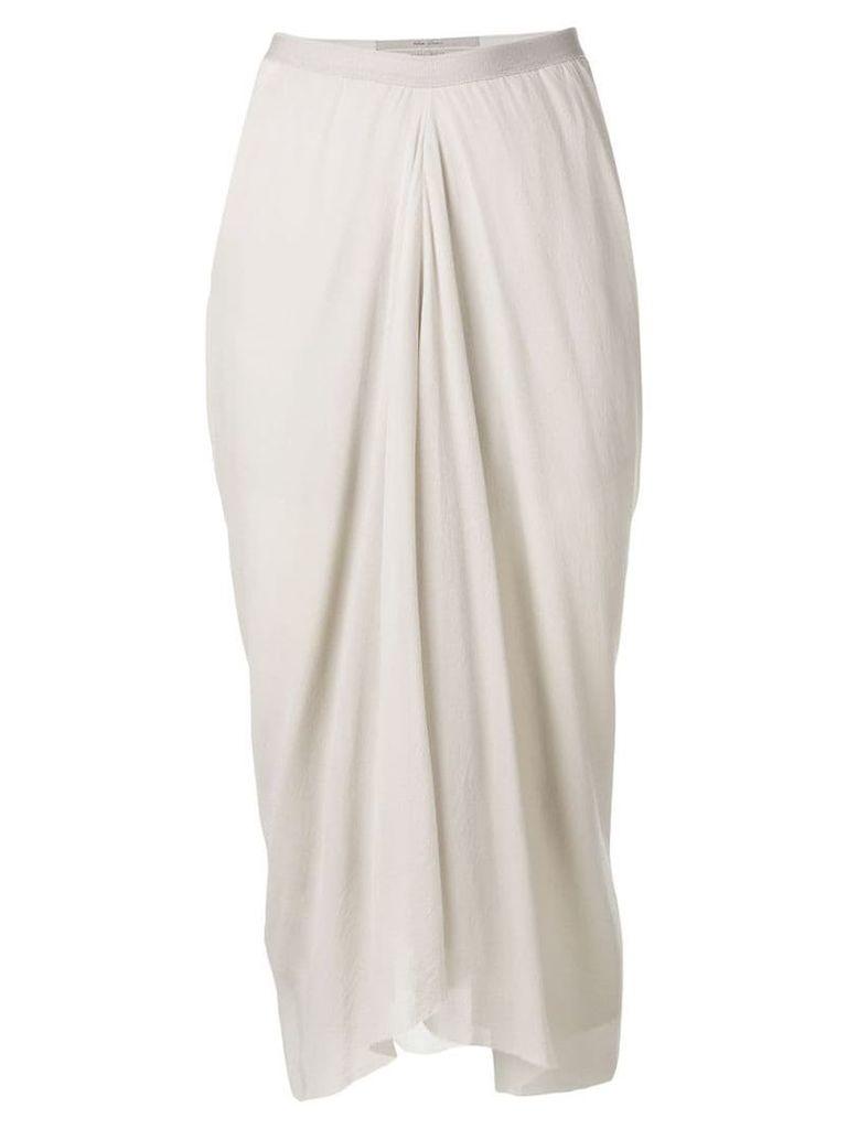 Rick Owens draped skirt - Grey