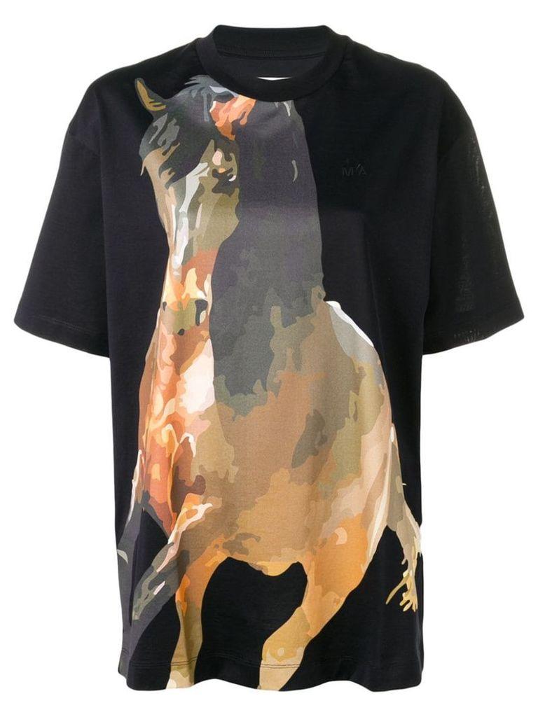 Marques'Almeida Horse print T-shirt - Black