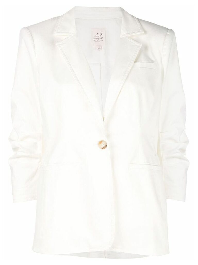 Cinq A Sept Khloe single-breasted blazer - White