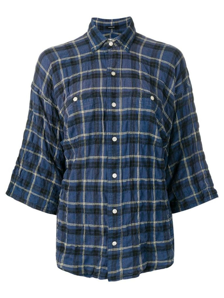 R13 plaid short sleeved shirt - Blue